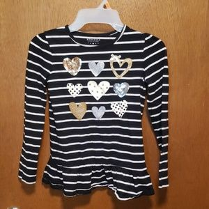 Striped tunic with sequin detail